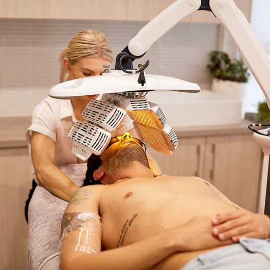 LED Light Therapy used to assist healing and relaxation
