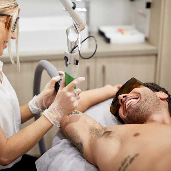 Tattoo removal for all skin types and tattoo sizes